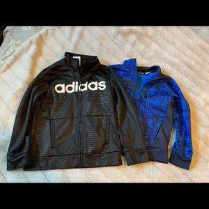 Adidas and puma zip up